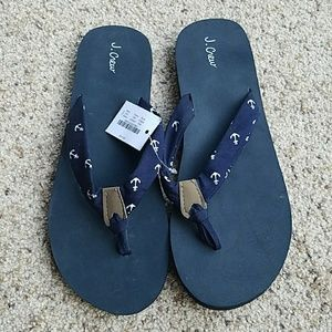 NWT J. Crew Anchor Sandals Size 9
